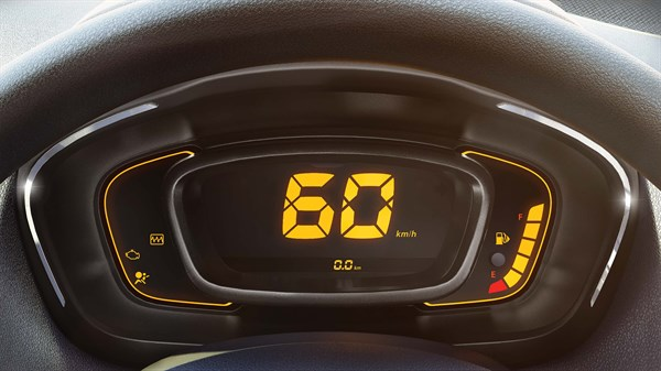 Digital instrument cluster with chrome contour