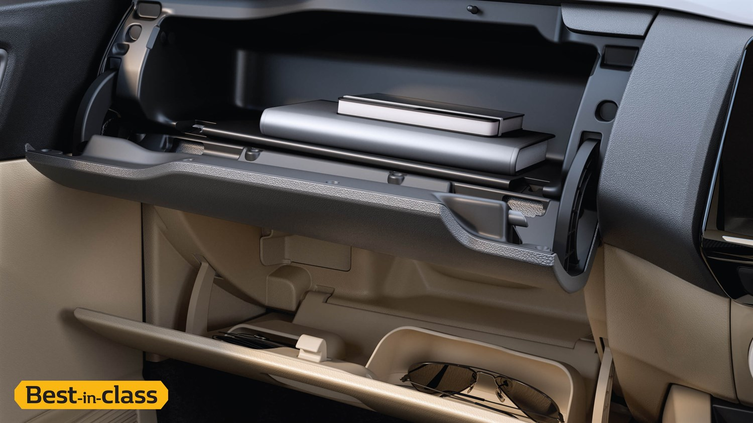 Upper and Lower Glove Box